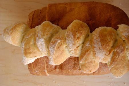 Pain d' Epi and King Arthur Sandwich Bread